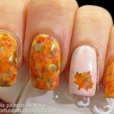 Fall Leaf Nail Art nail art by Marie