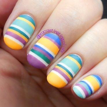 Mix & Match Stripes nail art by Jae Harrison
