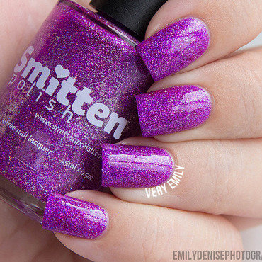 Smitten Polish Sparkling Orchid Swatch by Very Emily