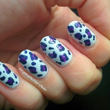 31DC2014 - Day 13 Animal Print Matte version nail art by Franziska FrankieHuntersNails