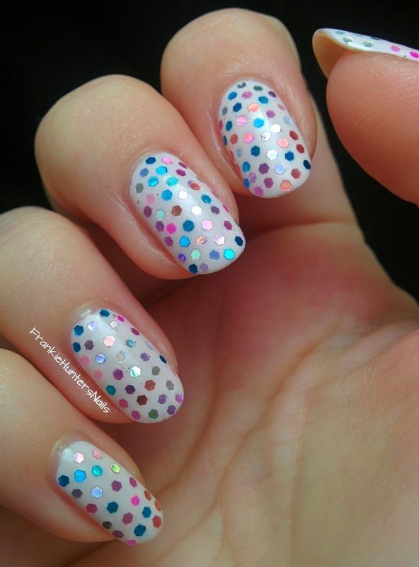 31DC2014 - Day 17 Glitter nail art by Franziska FrankieHuntersNails