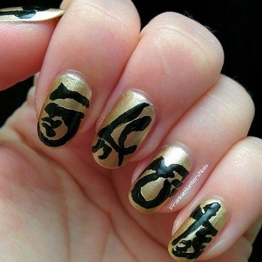 31DC2014 - Day 24 Inspired by a book nail art by Franziska FrankieHuntersNails