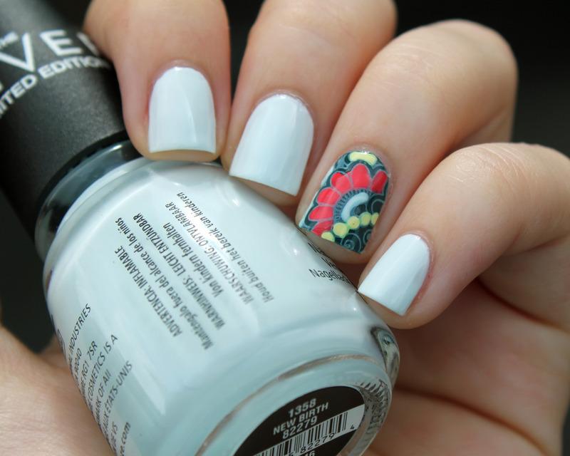 CG New Birth + Accent Nail nail art by Moriesnailart