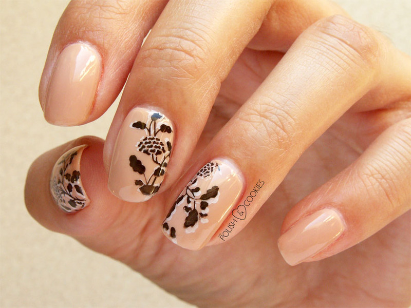 Delicate flowers nail art by PolishCookie