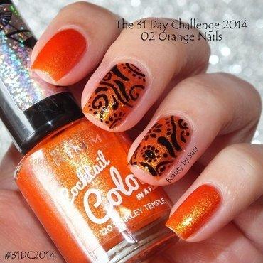 Orange nails nail art by Suzi - Beauty by Suzi