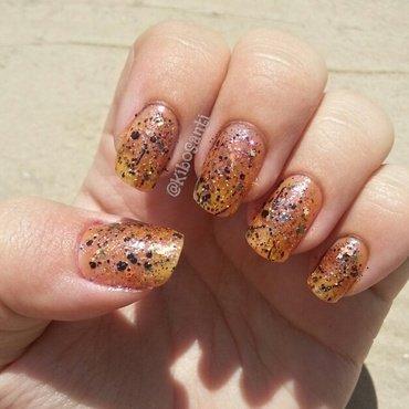 October challenge day 4 glitter bomb nail art by KiboSanti