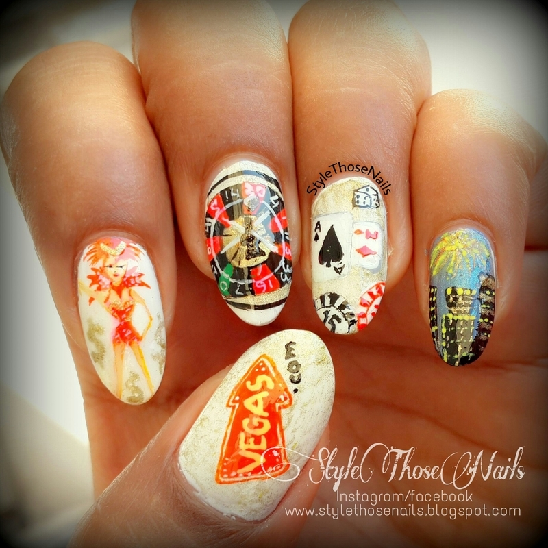 The Las Vegas Nails nail art by Anita Style Those Nails - The Las Vegas Nails Nail Art By Anita Style Those Nails