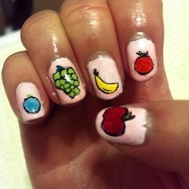Fruity nails nail art by Erica