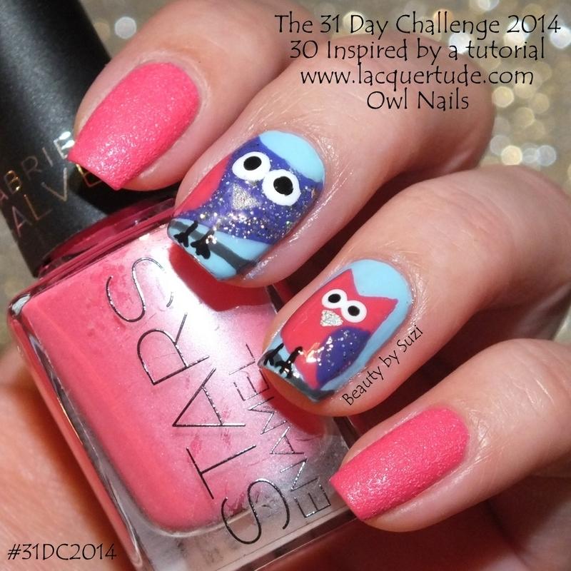 Inspired by a tutorial nail art by Suzi - Beauty by Suzi