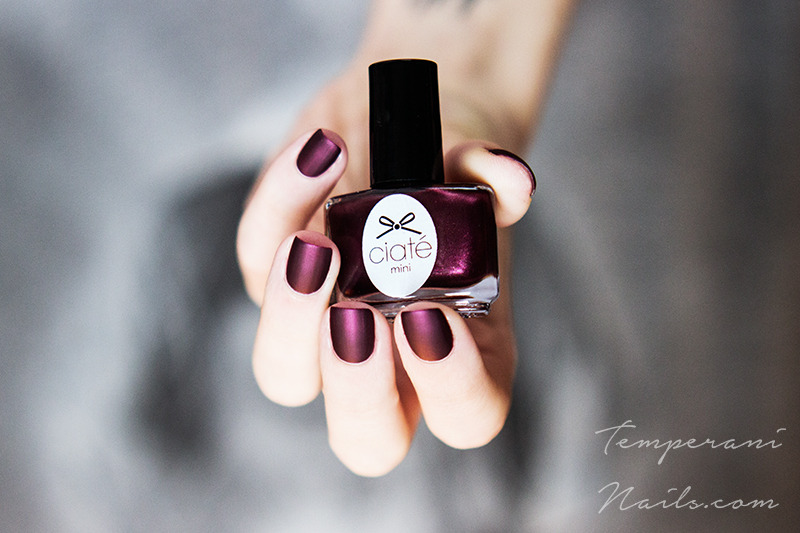 OPI Matte top coat and Ciaté Can Can Swatch by Temperani Nails