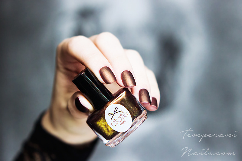 OPI Matte top coat and Ciaté For the frill of it Swatch by Temperani Nails