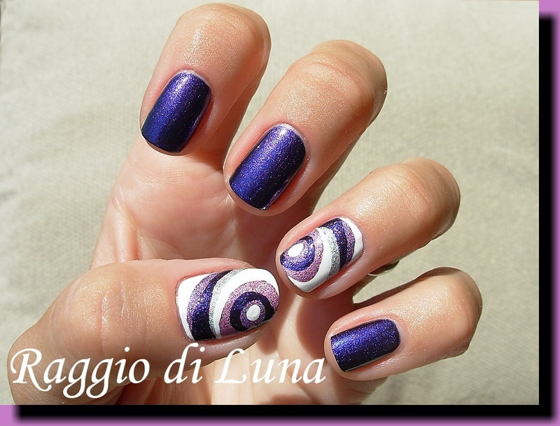 Abstract on purple nail art by Tanja
