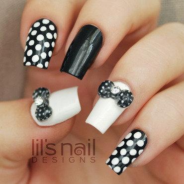 Black White Polkadots nail art by Lily-Jane Verezen