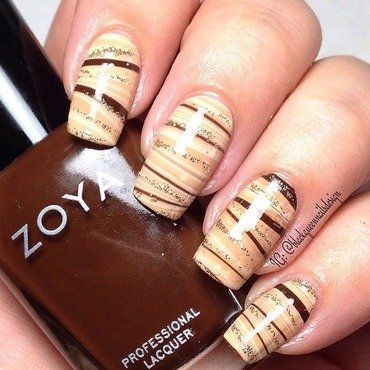 Fall watermarble  nail art by Blackqueennailsdesign