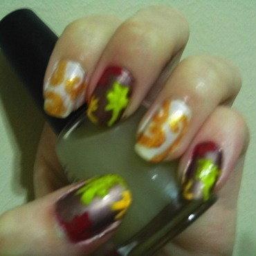 Falling Pretty  nail art by JessJar19