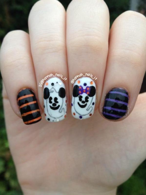 Minnie and Mickey, till death do us part... nail art by Hannah