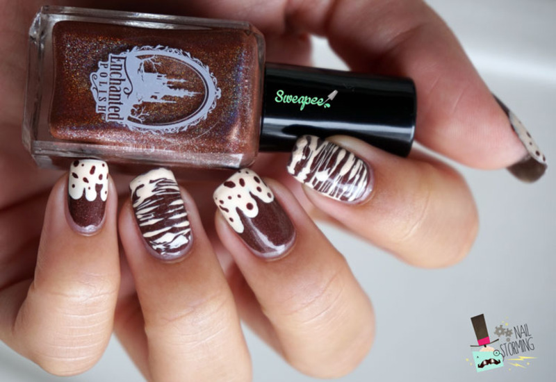 Hot Chocolate Nail Art By Sweapee Nailpolis Museum Of Nail Art