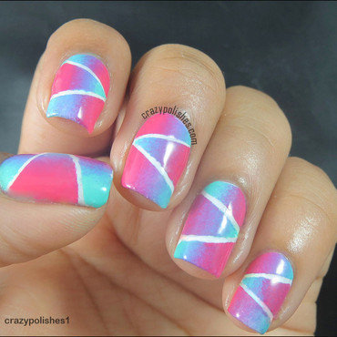 Geometric 20gradient 20nail 20art 20tape 20nail 20art thumb370f