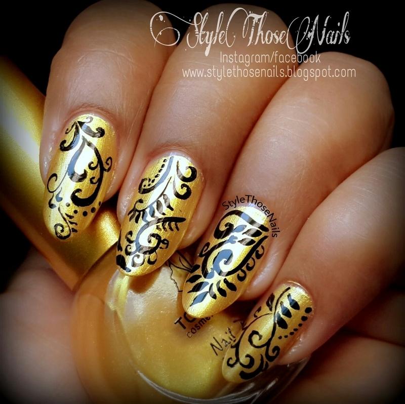 Golden Diva Nails nail art by Anita Style Those Nails