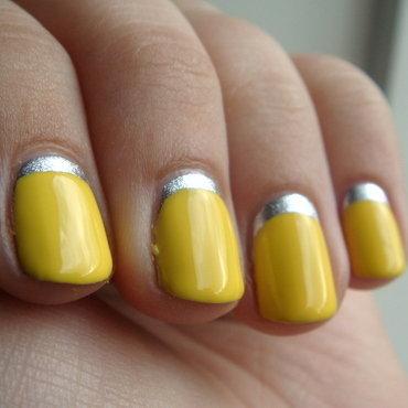 Yellow Ruffian nail art by Elin The Cupcake Cat