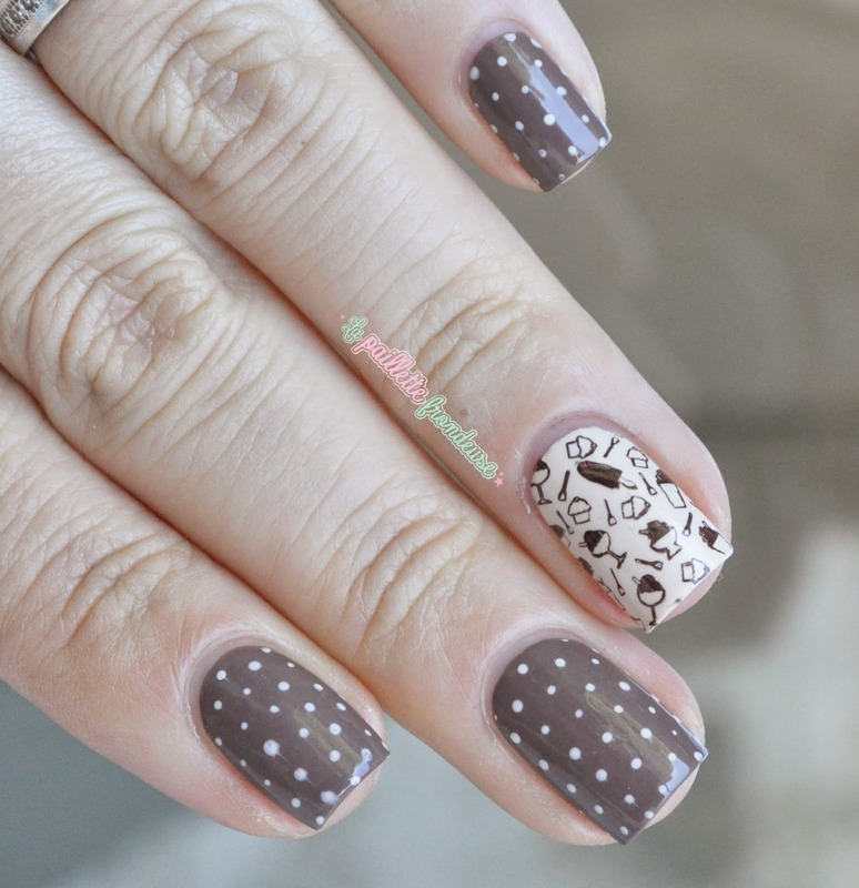 Chocolate day nails nail art by nathalie lapaillettefrondeuse