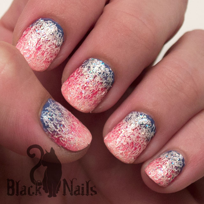 Sally Hansen Fuzzy Coat Woollite Princess nail art by Black Cat ...
