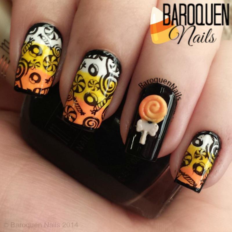 Halloween Candy nail art by BaroquenNails