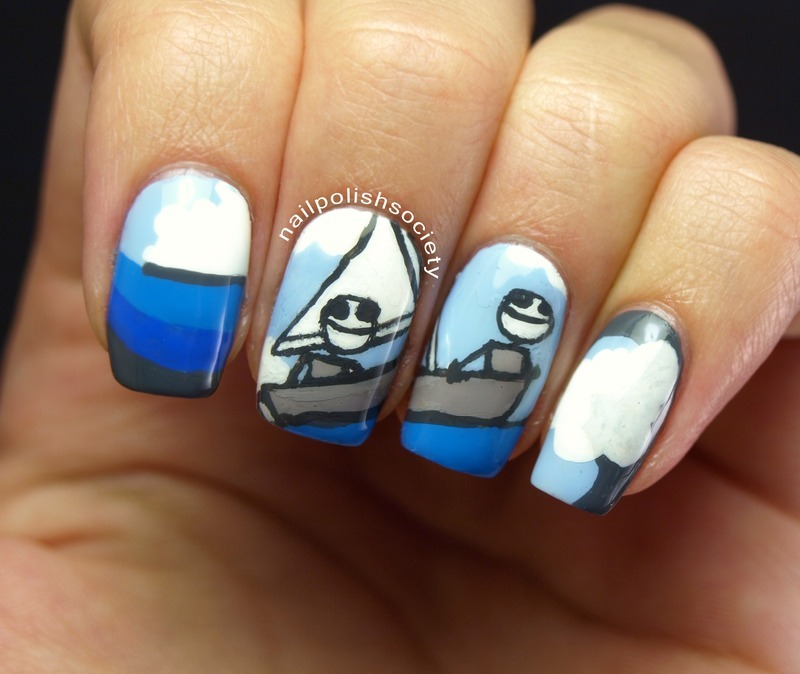 I Want To Live Until I Die nail art by Emiline Harris