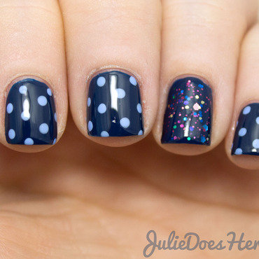 #31DC2014 Day 5: Blue Nails nail art by Julie