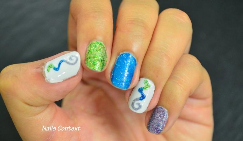 Glitter Polish nail art by NailsContext