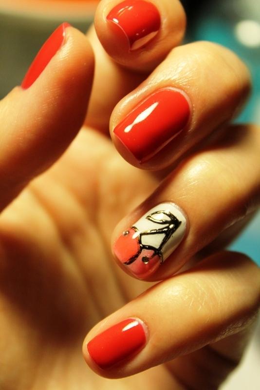 Сherry nail art by Gorshkova