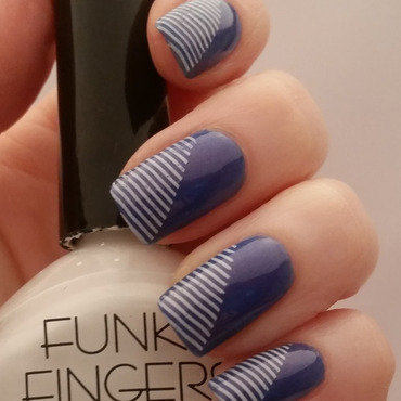 simple stripes  nail art by Gr8Nails