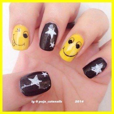 Emoji nail art nail art by Puja Malhotra