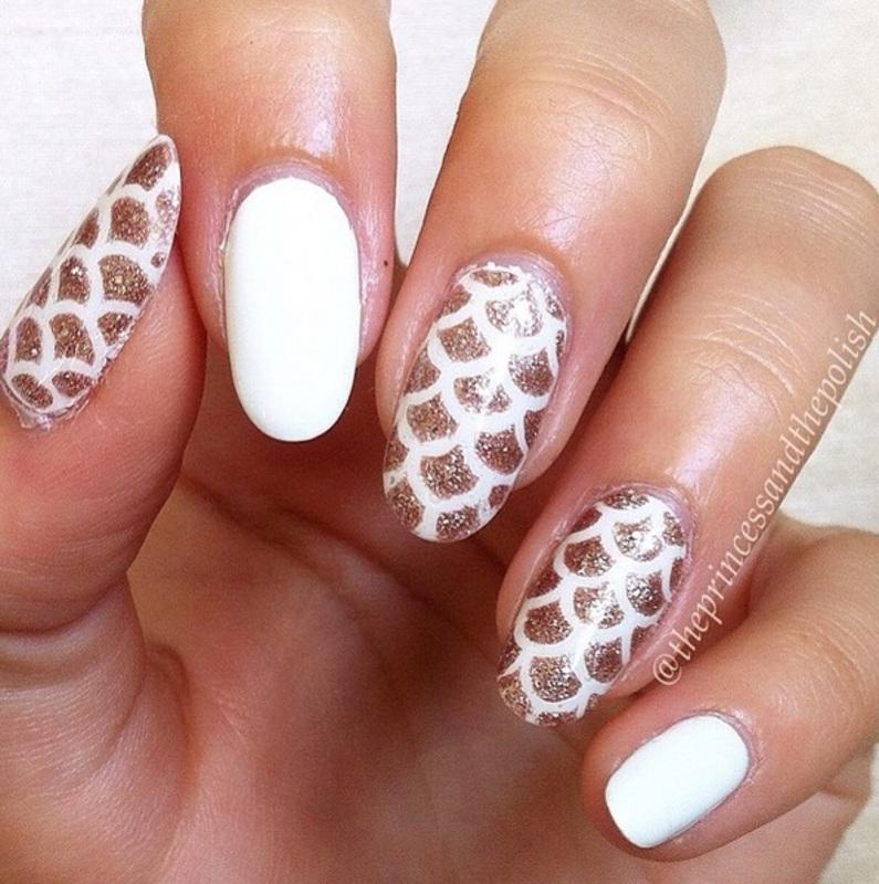 Fishy Scales! nail art by Alexandra