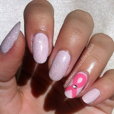 Breast Cancer Awareness Nails nail art by Alexandra