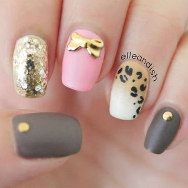 Matte Ombré Leopard Nails nail art by elleandish