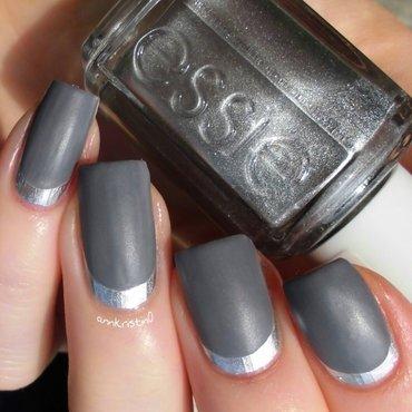 Ruffian Grey Matte nail art by Ann-Kristin