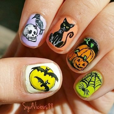 Halloween nail art by SydVicious