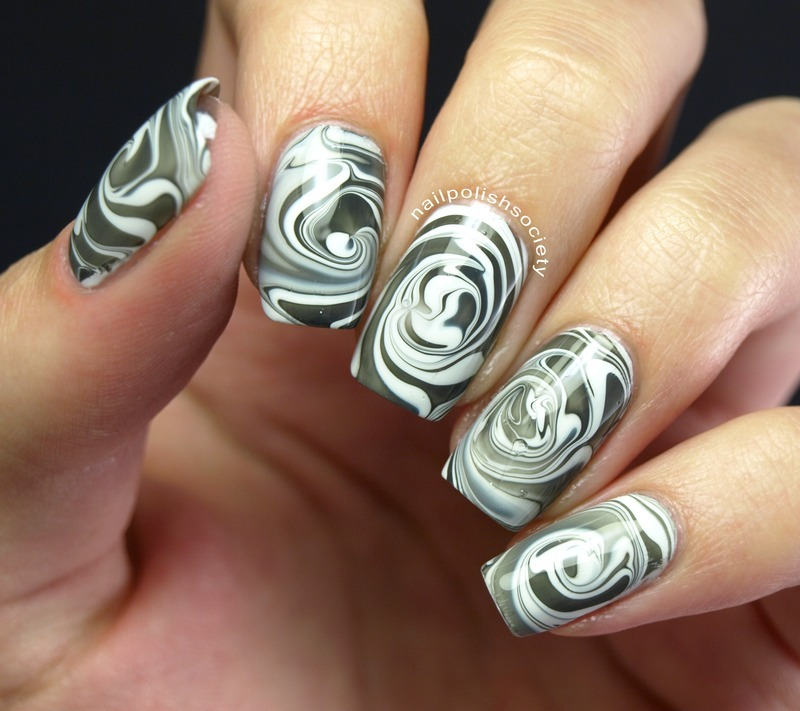 Swirling Vortex nail art by Emiline Harris