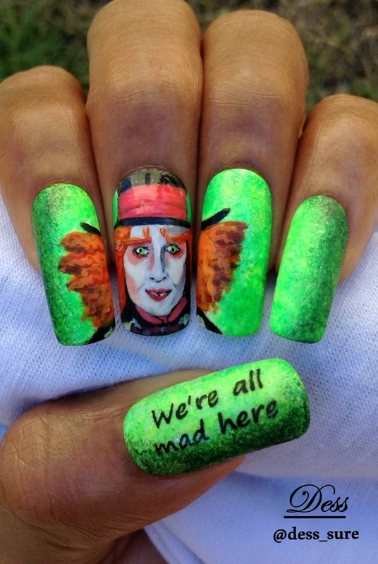 Crazy Hatter  nail art by Dess_sure