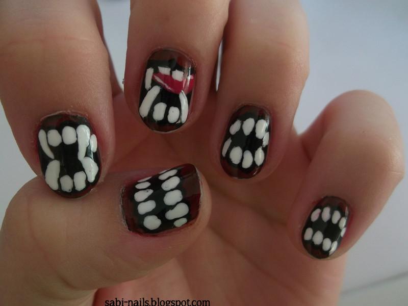 Halloween nails nail art by Sabina