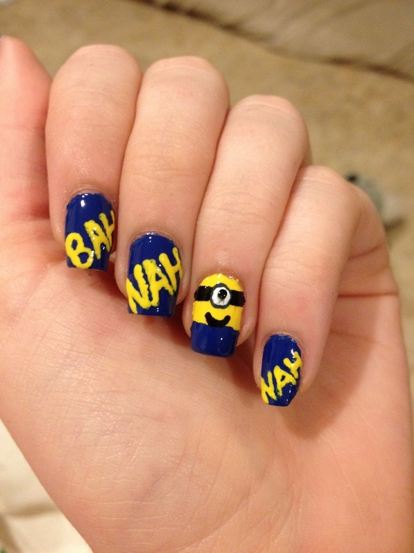 Despicable me minion banana nail art nail art by elizabeth despicable me minion banana nail art nail art by elizabeth hemingway prinsesfo Images