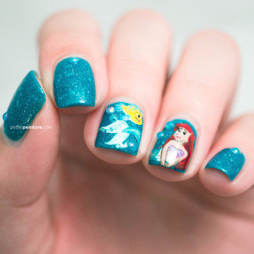 Little Mermaid nail art by Petite Peinture