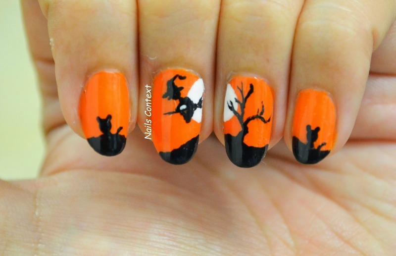 Flying Witch nail art by NailsContext