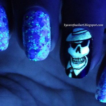 Skullduggery Pleasant nail art by Margriet Sijperda
