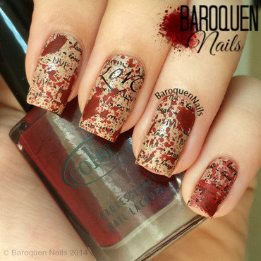 Love Kills I nail art by BaroquenNails
