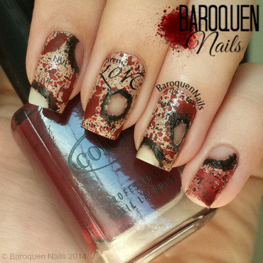 Love Kills II nail art by BaroquenNails