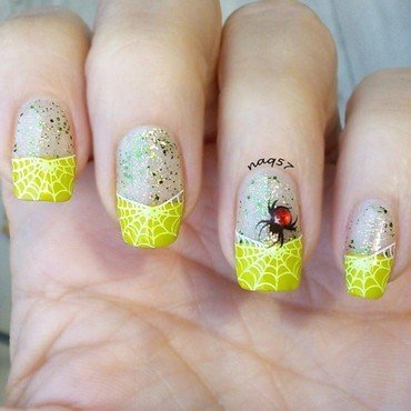 Webby French Tips nail art by Nora (naq57)