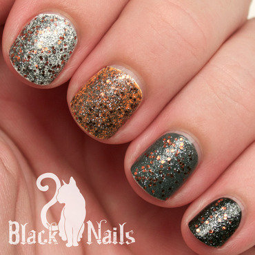 Sinful Colors Black Magic Swatch by Black Cat Nails