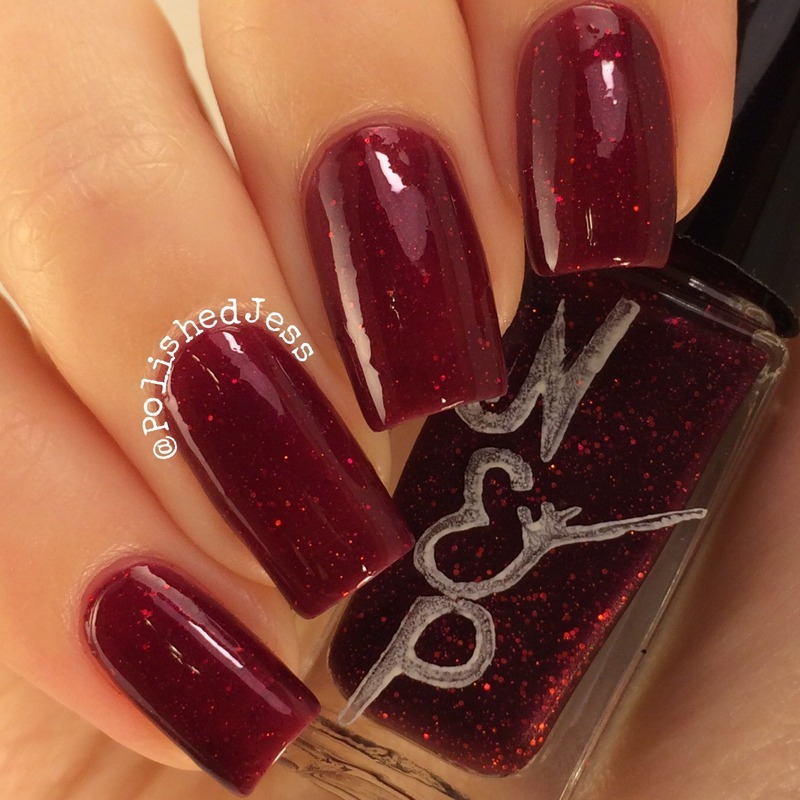Nvr Enuff Polish Star Garnet Swatch by PolishedJess